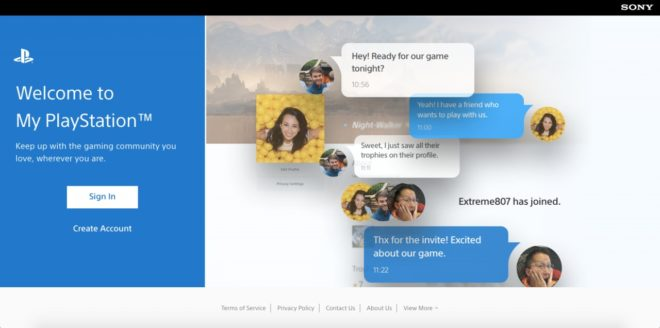 My PlayStation is a new browser version of you PSN Profile - Sony